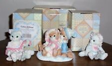 Set/3 Enesco Calico Kittens New in Original Boxes Sweet!