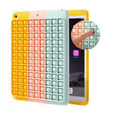 Multicolor Silicone Pop Fidget Toy Protective Case Cover For iPad 10.2 (2020)