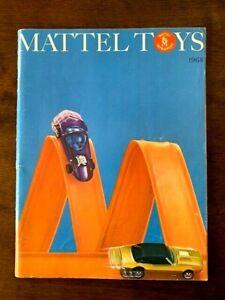 1968 MATTEL SALESMAN TOY CATALOG w HOT WHEELS RED LINE , BARBIE & MUCH MORE