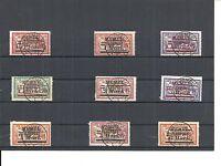 Memel, Litauen 1922, Einzelmarken aus MiNrn: 72 - 107 o, geprüft Huylmans BPP