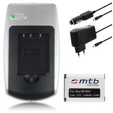 Ladegerät+Akku NP-BX1 für Sony Cyber-shot DSC-WX350, HX60, HX60V, H400, HX400V