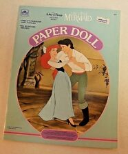 Vintage Walt Disney The Little Mermaid Paper Doll Book with Clothes 1991 NEW