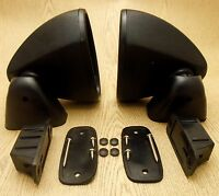 Mitsubishi 71-73 Dodge Colt Coupe ChrysleValiant Galant Wagon Black Door Mirrors