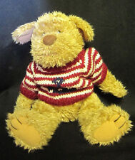 "14"" T.C. Dawson by Fiesta Little McMuff plush dog with red and white sweater"