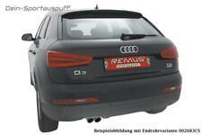 Remus Scarico Sportivo Audi Q3 Tipo U8 2.0TDI 103kW 2x84mm Inclinato di Carbonio