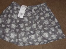 NEW! Layer Skirt Age 7 - 8 years Grey Floral by FF Kids