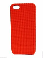 Fossil iPhone 5 Case Orange Crosshatch Case Cell Phone Cover New!
