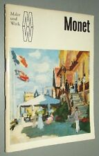 Reihe MALER und WERK Peter H. Feist MONET 1973 Verlag der Kunst DRESDEN