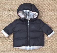 NEW Authentic BURBERRY BABY Black Infant Boy Winter Coat Jacket - 3 Months 3M