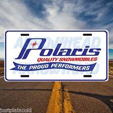 "Polaris ""Performers"" vintage snowmobile licence plate"
