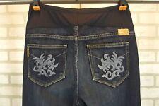 Paige Laurel Canyon Womens Maternity Jeans Pants Sz 30 Dark Blue Wash Bootcut