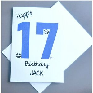 Personalised 17th Birthday Card Boy - 17 Years Old - Son Grandson Nephew