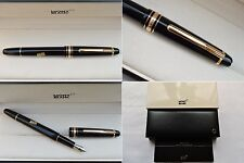 """NEW"" Montblanc Meisterstuck Classique 145 Gold Line Fountain Pen 14K F Fine Nib"