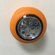 1 x 12 LED Naranja Base de succión Foco trabajo Batería, Luz Blanca & ROJO AVISO