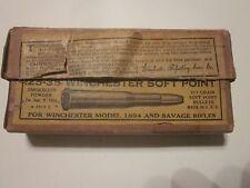 1894 Winchester Era .25-35 cal Empty Box Smokeless Scarce 2 part box Savage Rifl