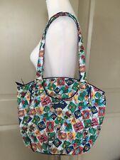 NWT Vera Bradley Cuban Stamps GLENNA Tote Bag Shoulder Handbag Full Fabric