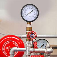 0-100PSI 1/4 BSPT Hydraulic Pressure Gauge Manometer Water Air Pressure Meter