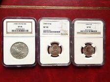1998,1997,1994 -NGC SP70 three coins set