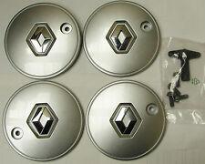 "RENAULT CLIO Scenic HUB CAPS Silver Centre CAP Alloy x4 SET 15"" alloy wheels"