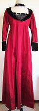 Medieval Crimson Red Black Silk Halloween Or Wedding Gown Dress X-Lrg Plus Size