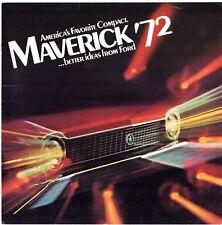 Ford Maverick 1972 USA & UK Market sales brochure 2-dr 4-dr Grabber