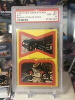 1980 STAR WARS EMPIRE STRIKES BACK STICKER #4 B X POP 5 PSA 8 Boba Fett & Vader