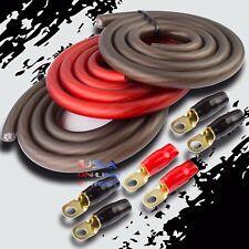 Big 3 Upgrade 1/0 Gauge Alternator Electrical Red Black Cable Wiring Combo Kit