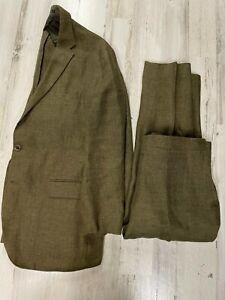 Polo Ralph Lauren Linen Green Suit 44S (35x27) Morgan
