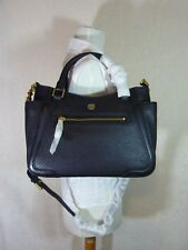 NWT Tory Burch Black Leather Small Frances Tote/Cross Body Bag $485