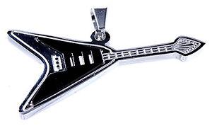 Gitarre Klampfe Metal Rock Band Musik Rock Roll Anhänger Edelstahl Nr. 156