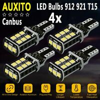 AUXITO 4X T15/921 LED Back Up Reverse Light Bulb for Ford F150 2006-2014 6000K U