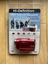 Jazz Hdv141 Video Recorder, Hd 1280x720 YouTube Ready Red 4X Zoom Usb 2.0