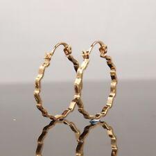 "SALE 9ct 9K "" Gold Filled "" 2 x 26mm Girl Ladies Hoops Earrings  Xmas E629g"