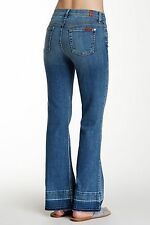 NWT $198 7 Seven For All Mankind Jeans Tailorless Ginger Flare Released Hem 24 S