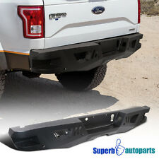 15-17 Ford F150 Pickup Truck Rear Bumper High Quality Heavy Duty Black Steel