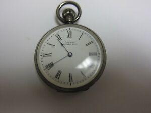 Antique 1902 Waltham Sterling Silver Pocket Watch Half Hunter Case 6s Amazing