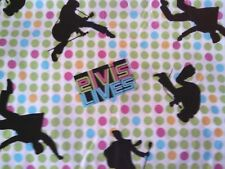 Elvis Early Days '56 Lime Green Hot Pink Dots  Fat Quarter  NEW    OOP