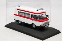 Atlas Barkas B1000 1965 Ambulance Diecast Models Toys Car Collection 1:43 Scale