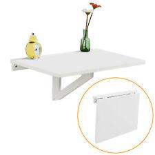 SoBuy® Table murale a rabattable en bois naturel,60×40cm-enfant,Blanc FWT03-W FR