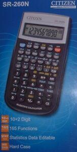 Calculatrice scientifique et statistiques Citizen SR-260N