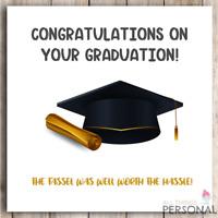 Congratulations on Your Graduation Son Daughter Niece Nephew Funny Joke Card