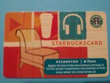 """Starbucks gift card 2007 """" I-Tunes """" MINT HTF. NO VALUE. RARE"""