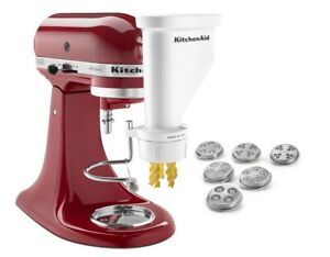 KitchenAid Gourmet Pasta Press Attachment (Bucatini, Rigatoni, Spaghetti, Fus...