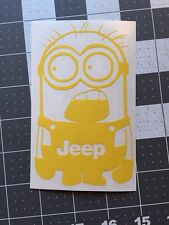 Jeep Vinyl Decal Sticker Jeep Girl Wrangler Cherokee Offroad 4x4 SALE ON YELLOW