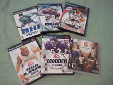 NHL 2001 (Sony PlayStation 2, 2000) + LOT 5 PS2 Games