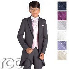 en Gris Niño FRAC , trajes de boda, FRAC ,diamante Chaleco, Trajes Niños