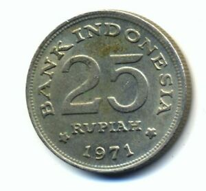 Indonesia 25 rupiah 1971 Combined Shipping