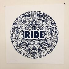 "Original Artist Limited Ed: of 50  Print ""RIDE"" Bike Cycling Biking Art 20""x20"""