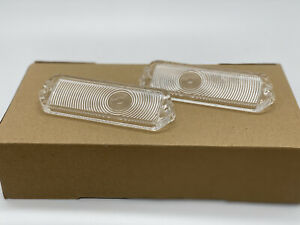 1963 63 Chevrolet Impala Parking Light Lamp Lens Pair Clear Limited offer