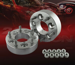 """2pcs 38mm (1.5"""") Thick 5x114.3 to 5x114.3 Wheel Adapters Spacers 1/2""""-20 Studs"""